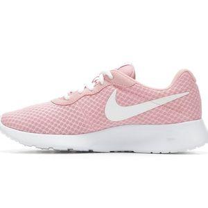 Nike Tanjun Pink Mesh Running Shoes